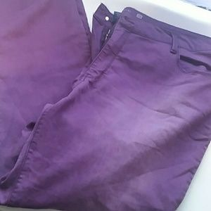 Faded Glory Size 26 Purple Jeans